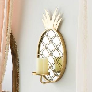 Candeliere d'attaccatura di parete decorativo nordico di lusso della decorazione della casa dell'ananas della decorazione dello specchio