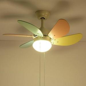 Nordic Macaron Fan LED Lampadario luce semplice Soggiorno Ristorante Spirale Fan Lampada Coffee Shop Light camera per bambini