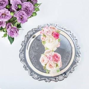 Piastra portaoggetti per matrimonio in metallo nordico Desktop Scandinavia Gioielli Lussuosa torta Portaoggetti per frutta Organizer Decor per la casa