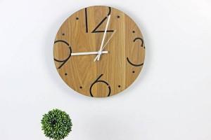 Moda nordica minimalista rotonda orologio da parete in legno Soggiorno camera da letto studio orologio da parete muto Orologi da parete Decorazione da parete