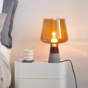 Lampada da tavolo moderna post nordica Lampada da tavolo creativa in cemento Lampada da lettura E27 Lampada a LED Studio soggiorno decorazione della casa d'arte