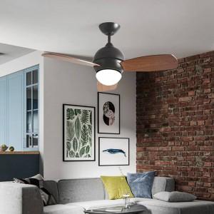 Ventilatore da soffitto a sospensione ristorante nordico macarons moderni e creativi in stile industriale Fan fan LED per soggiorno camera da letto