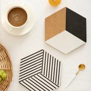 Vassoio portaoggetti da tavolo in legno nordico Cuscinetti isolanti chic scandinavi Vogue Elegante lussuoso scrivania Scrivania Organizer Decor