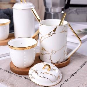L'ufficio porta la tazza di tè Tè d'ossa Separazione dell'acqua Tazze e tazze profumate di tazza da viaggio da caffè