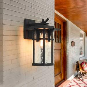 Lampada da parete a parete a induzione impermeabile per balcone esterno per la casa Cortile Giardino Villa Villa Lampada rurale in alluminio antico