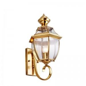 lampada da parete a led in rame per esterni impermeabile stile europeo decorativo luce da giardino corridoio corridoio luce del balcone