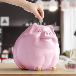 Salvadanaio maiale per bambini regalo resina animale statua cassa moneta salvadanaio creativo divertente maiale salvadanai per bambini salvadanai carino