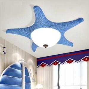 Plafoniere a led rosa Starfish per bambini Lampade da soffitto a led per camerette in vetro per camerette