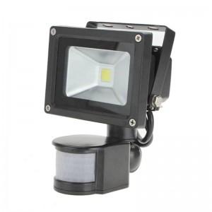 PIR 10W Lampada di inondazione a LED AC110V 220V Faretto impermeabile di ingresso Per la sicurezza del garage del sistema solare Sensore di movimento Tempo Lux regolabile