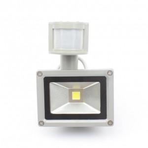 Proiettore a LED PIR 10W Ingresso DC / AC12V Faretto IP65 Per la sicurezza del garage del sistema solare Sensore di movimento Tempo Lux regolabile