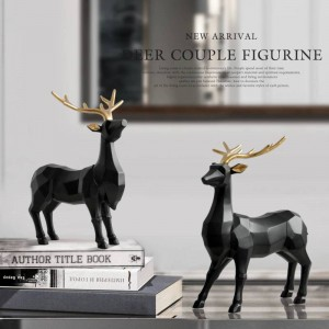 Polyresin Figurine Decorazione Animale Statua Soggiorno Ornamenti Scultura Creativo Resina Cervo Regalo artigianale per la decorazione domestica