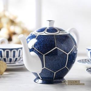 Set da caffè in porcellana, design ultrasottile di design per la casa, modello di arredamento per la casa, contorno in oro 15 pezzi set da tè europeo