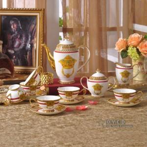 Set di stoviglie in porcellana con struttura in osso moda arredamento per la casa in oro 58 pezzi set di stoviglie set da pranzo set da caffè regalo