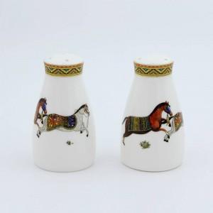 Agitatori di sale e pepe in porcellana dio cavalli desi osso in bottiglia di sale bottiglia di pepe osso sale pepe