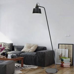 Lampada da terra di design postmoderno Lampada da lettura in metallo bianco nero Lampada da lettura per camera da letto orientabile Lampadina a LED E27