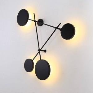 Post Morden Lampade da parete nordiche Lampada da parete a LED creativa per interni Lampada da parete nera Lampade per illuminazione a breve lampada Lamparas de Pared