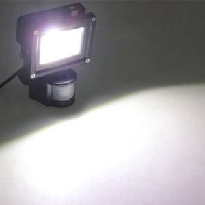 Promozione 4 Pz / lotto PIR 10 W LED luce di inondazione riflettore impermeabile garage sicurezza Sensore di movimento Tempo Lux regolabile AC85V-240V in