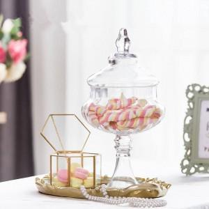 Vasetti di vetro di zucca di alta qualità Barattolo di caramelle cibo con coperchio serbatoio serbatoio bottiglia contenitore vaso festa nuziale ornamenti lattine creative