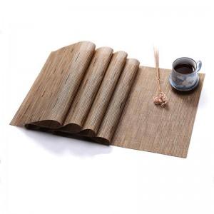 Stuoia di colore puro in PVC Tappetino in tessuto di bambù Tovaglietta Protezione ambientale Isolamento Decorazione della casa Stuoia Decorazione della tavola
