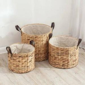 Rattan cesto secchio senza coperchio panni sporchi cesto portabiancheria cestello portabiancheria grande cesto portabiancheria sporco