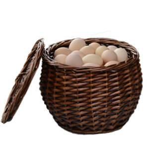 cestino di immagazzinaggio del rattan cestino di vimini cestino di uova di bambù e cesto di frutta