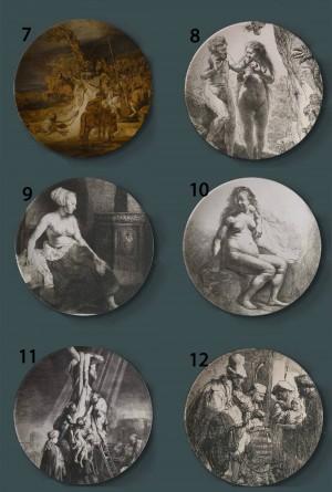 Rembrandt Harmenszoon van Rijn Pittura Piatti decorativi Paesi Bassi Ceramica Artistica per la casa Piatto artistico Sfondo per esposizione Piatto