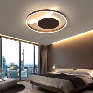 Plafoniere telecomandate per soggiorno camera da letto corpo bianco posteriore Lampada a colori per la casa Deco AC90-260V apparecchio di illuminazione domestica