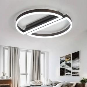 Plafoniera a led telecomandata rotonda bianco nero Lampada acrilica ultrasottile per soggiorno camera da letto Apparecchi per soggiorno