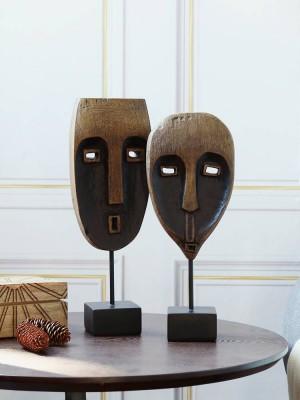 Modello di albero nero in resina Decorazione africana Decorazione Decorazione Artigianato creativo Moderno minimalista Desktop Art Gifts