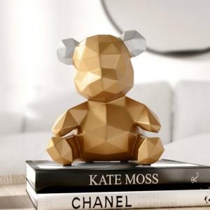 resina decorazioni per la casa scultura orso decorazione figurine orso ornamento in casa ufficio giardino bambini regalo di natale resina statua animale