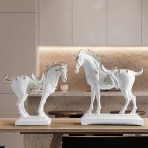 statue di cavalli in resina decorazioni per la casa accessori figurine per ufficio hotel soggiorno arredamento creativo statua regali cavallo