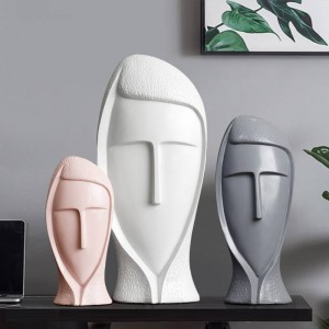 Statua in resina Scultura decorativa Arte moderna Per la decorazione domestica Accessori Artigianato Creativo Soggiorno Decorazioni per la casa