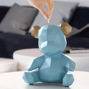 Figurine di orsacchiotti in resina Creativo Salvadanaio Regalo Scatola di immagazzinaggio di nozze Soldi per bambini Monete Porta monete Giocattolo per bambini Banca di monete