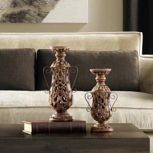 Candeliere intagliato in resina europea Home Restaurant Cafe Modello House Decoration Crafts Decoration
