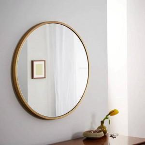 Specchio da bagno retrò in metallo tondo semplice da parete specchio da parete per la casa specchio specchiera specchio per il trucco mx3011118