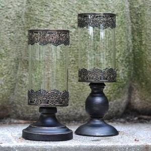 Cena romantica a lume di candela Portacandele Luce notturna Metallo Ferro Arte / Vetro Candeliere Vaso da fiori Party Cafe Artigianato