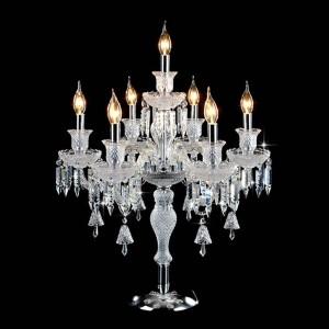 Moda romantica Decorazioni di nozze Lampade da tavolo per camera da letto Comodino Soggiorno Led E14 lampada da tavolo in cristallo di alta qualità di lusso