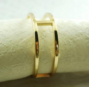 portatovagliolo rotondo in metallo dorato, porta tovagliolo per matrimonio, 24 pezzi