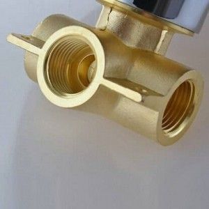 Rubinetto per doccia tondo con miscelatore a scomparsa per vasca da bagno a scomparsa in ottone cromato