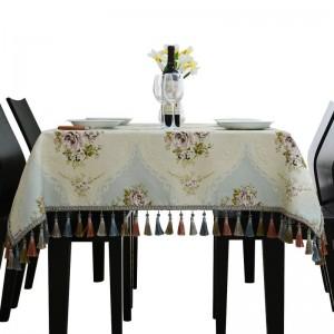 Tovaglie Principessa Ricamata Lusso Reale Tovaglia Matrimonio Jacquard Toalha De Mesa Nappa Modello Sala da pranzo