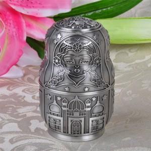 Russo classico matrioska automatico porta stuzzicadenti scatola di arte del metallo artigianato d'epoca decorazione della casa ornamenti regalo creativo