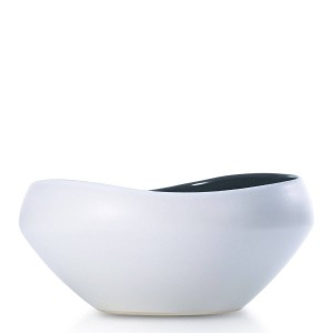 Centrotavola in ceramica semilucida Centrotavola decorativo Ciotola in ceramica Ideale per servire per macedonia Design moderno unico