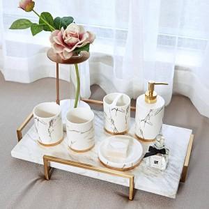 Set di grani di marmo Nord Europa Ceramica Detergenti per denti Spazzola Denti a tazza Tazza gargarismi Bagno con doccia Toilette Toilette