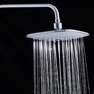 Rubinetti doccia ottone cromato termostatico bagno muro vasca rubinetto pioggia soffione doccia palmare quadrato miscelatore set di rubinetti JM-625L