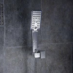 Soffioni doccia in plastica a parete in plastica a pioggia Soffione doccia superiore Soffione doccia ultrasottile quadrato Doccia a pioggia senza braccio FS236