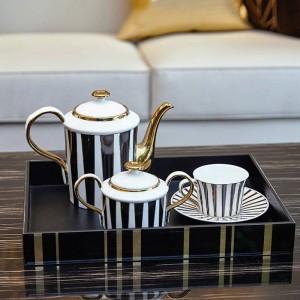 Regalo di lusso domestico stabilito della stanza di modello stabilita della tazza di caffè europea semplice
