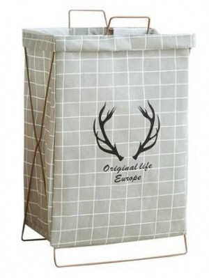 Cesto portaoggetti semplice in cotone e lino per uso domestico staffa pieghevole cesto impermeabile cesto giocattolo botte abbigliamento lavanderia