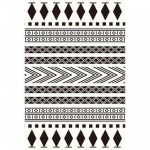 Semplice moderno bianco e nero nordico tappeto geometrico salotto tavolino camera da letto negozio completo grande finestra tatami tappetino personalizzato