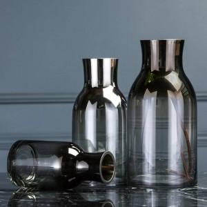 Ornamenti molli moderni semplici semplici della decorazione del fiore del desktop del salone di vetro trasparente semplice del vaso