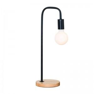 Lampada da tavolo moderna moderna in metallo nero colore bianco lampada da scrivania in legno Lampada Lampe creativa E27 Lampadina a led 3W Nordic Light